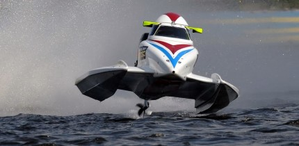 Alex Carella of Italy of F1 Qatar Team at UIM F1 H2O Grand Prix of Ukraine.