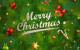 cute green merry christmas cards